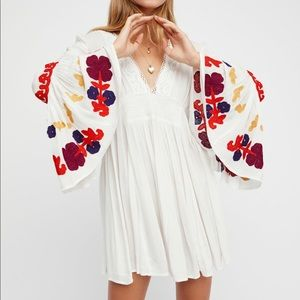 Free People White So In Love Tunic Dress
